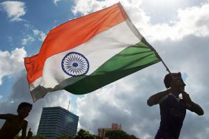 Flying India Flag