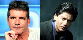 Simon Cowell and SRK