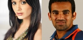 Isha Sharvani and Zaheer Khan