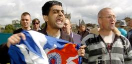 Abdual Rafiq protesting