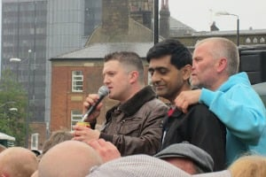 Abdul Rafiq and Tommy Robinson