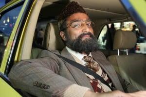 Mr Khan driving
