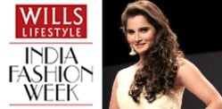 Sania Mirza models Ritu Pande at WIFW