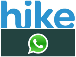 Hike vs Whatsapp