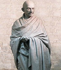 Gandhi Statue in final stages at Parliament Square