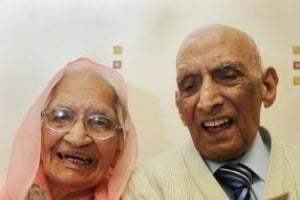 Old indian couple