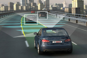 Autonomous cars are equipped with various sensory devices.
