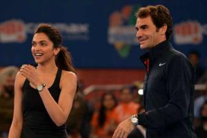 Deepika Padukone Roger Federer