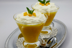 Mango and Cardamom Syllabub