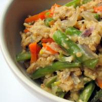 Curried veg porridge