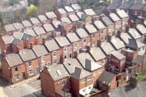 terraced houses rows