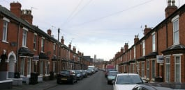 street terraced houses