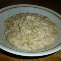 Toasted oats porridge