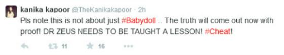 Kanika Kapoor Tweet