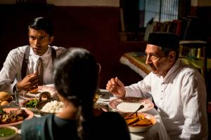 Indian Summers Aafrin (Nikesh Patel) and Darius (Roshan Seth)