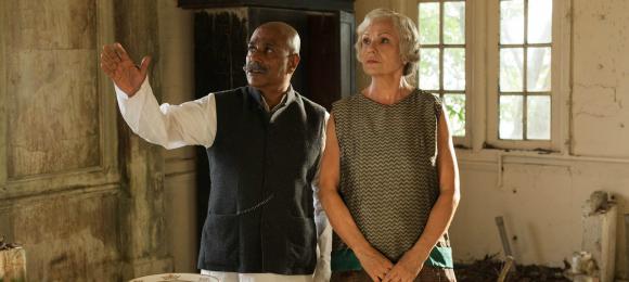 l-r: Kaiser (Indi Nadarajah) and Cynthia (Julia Walters)