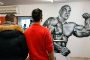 Desi Rascals Nuss mural Pure Muscles Gym