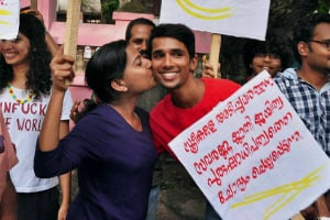 Kiss of Love Protest India