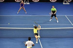 Leander Paes Martina Hingis Australian Open