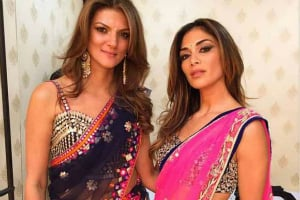 Nandita Mahtani and Nicole Scherzinger at Sanjay Hinduja Wedding