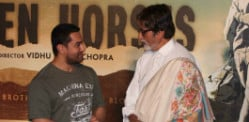 Amitabh and Aamir launch Broken Horses trailer