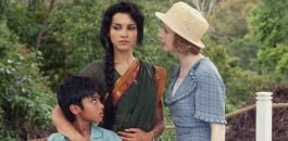 l-r:Adam (Shachin Sailesh Kumar); Leena (Amber Rose Revah) and Sarah (Fiona Glascott)