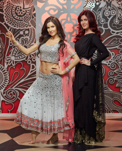 Katrina Kaif with her wax figure