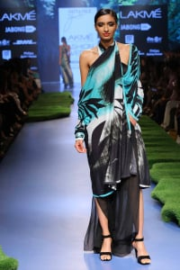 Model walks for Satya Paul at Lakme Fashion Week SR 15 1