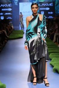 Model walks for Satya Paul at Lakme Fashion Week SR 15 1
