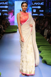 Model walks for Satya Paul at Lakme Fashion Week SR 2015 2
