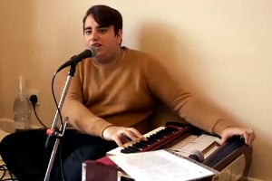 Not only can he deliver powerful soul ballads, he can also play the harmonium and sing bhajans.