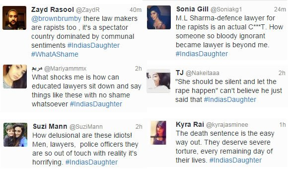 India's Daughter Twitter Reactions