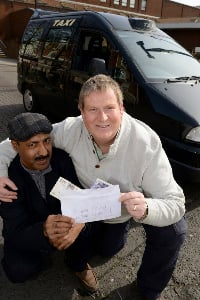 Honest Taxi Driver returns £10,000 to passenger
