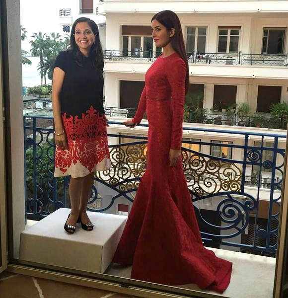 Katrina Kaif Stuns in Scarlet gown at Cannes