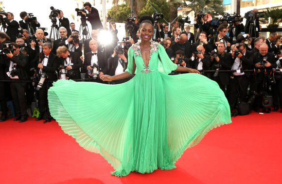 Lupita Nyong'o twirled her way onto the red carpet at Cannes.