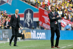 2015 FA Cup FInal Arsenal Aston Villa Managers Arsene Wenger Tim Sherwood