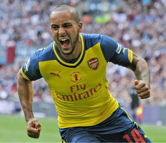 2015 FA Cup FInal Arsenal Aston Villa Theo Walcott