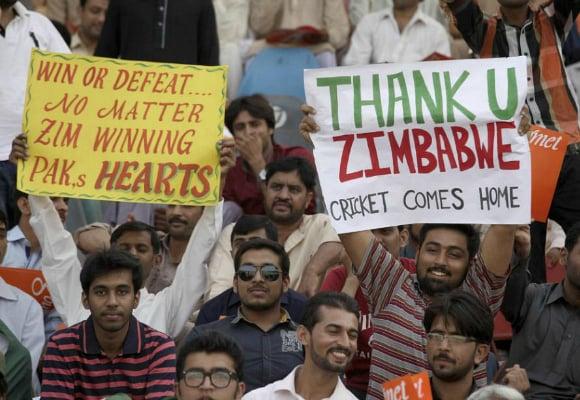 Pakistan Zimbabwe Cricket Comes Home Gaddafi Stadium Lahore