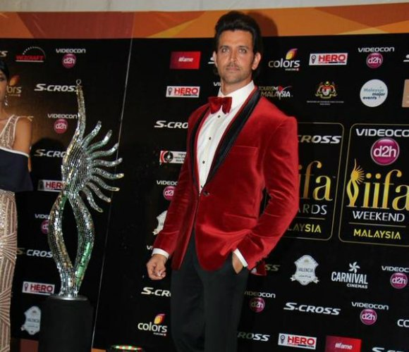 Hrithik Roshan rocked a red hot velvet suit jacket
