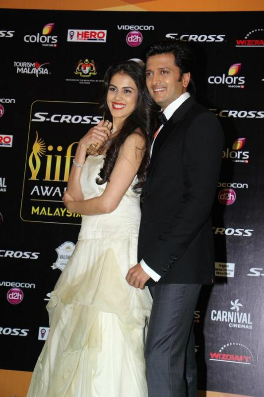 Ritesh Deshmukh mesmerised in a black and white tuxedo and sleek hairstyle.