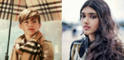 Neelam Gill adores Romeo Beckham in Burberry Ad