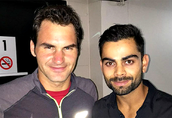Kholi and Federer