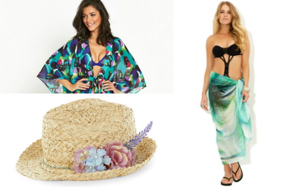 Sarongs and kaftans are ideal for those who want a quick cover-up.