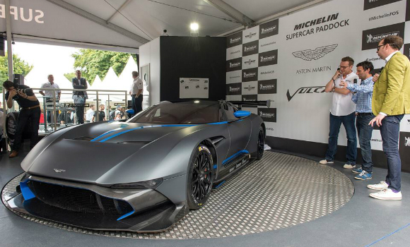 Aston Martin unveiled its supercar Vulcan at the 2015 Goodwood Festival of Speed.