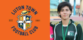 Almira Rafeeque makes history as the first female footballer to join Luton Town Football Club.