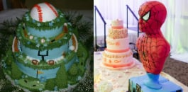 Over time, the wedding cake has evolved into a canvas for wonderful artistic creations.