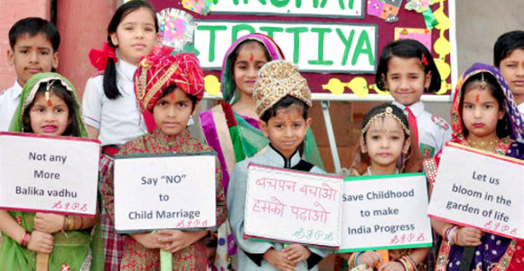 Child marriages remain illegal yet prevalent in the rural parts of India.