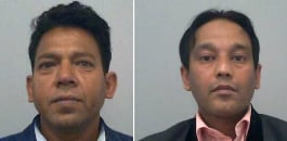 Six Asian men are found guilty of a number of offences committed against two schoolgirls over a course of six years.