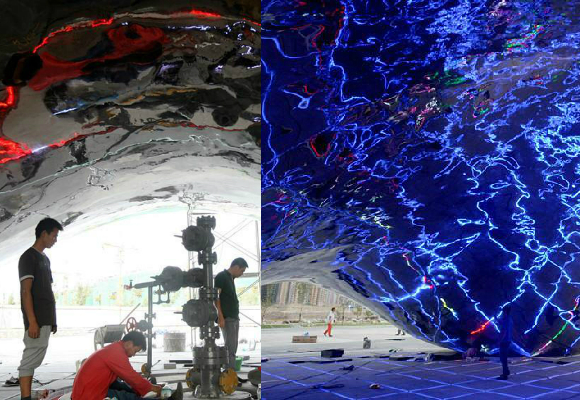 Anish Kapoor is furious at a copycat of his sculpture unveiled in Xinjiang, China on August 11, 2015.
