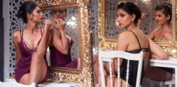 La prossima top model dell'India si gode un servizio di lingerie